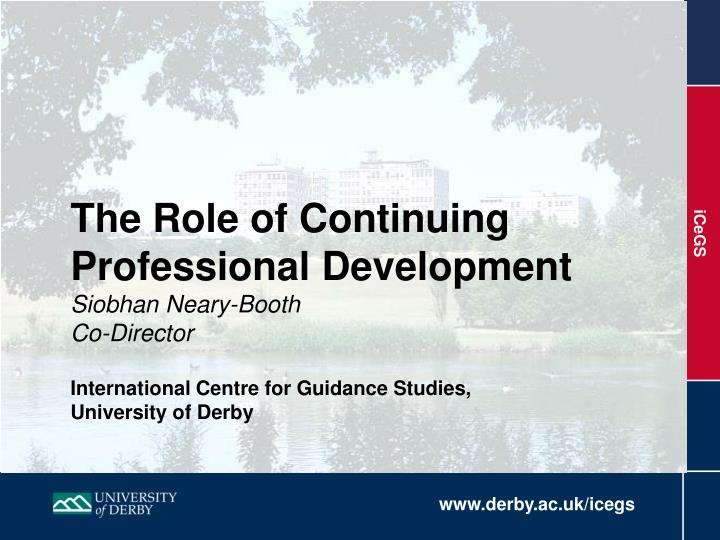 The Role of Continuing Professional Development