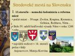 stredovek mest na slovensku