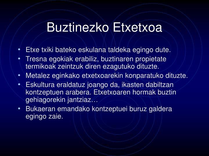 Buztinezko Etxetxoa