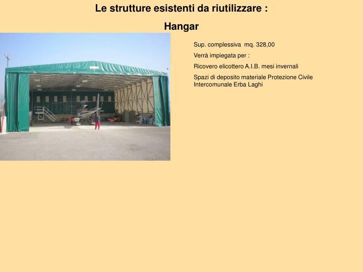 Le strutture esistenti da riutilizzare :