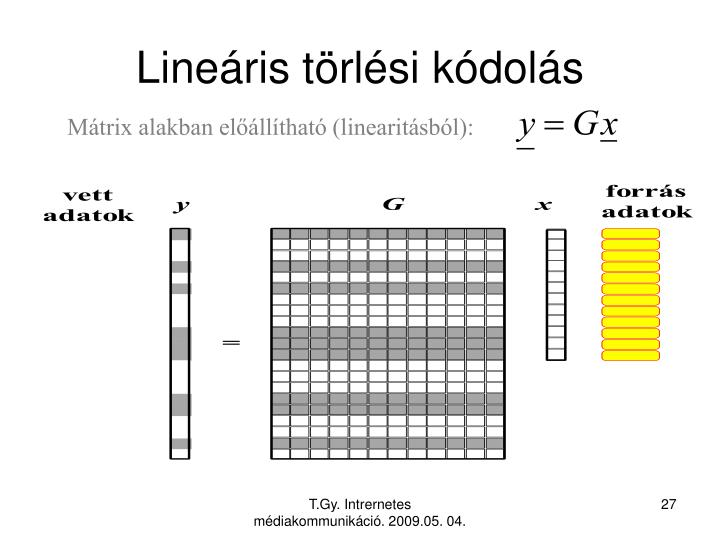 Lineáris törlési kódolás