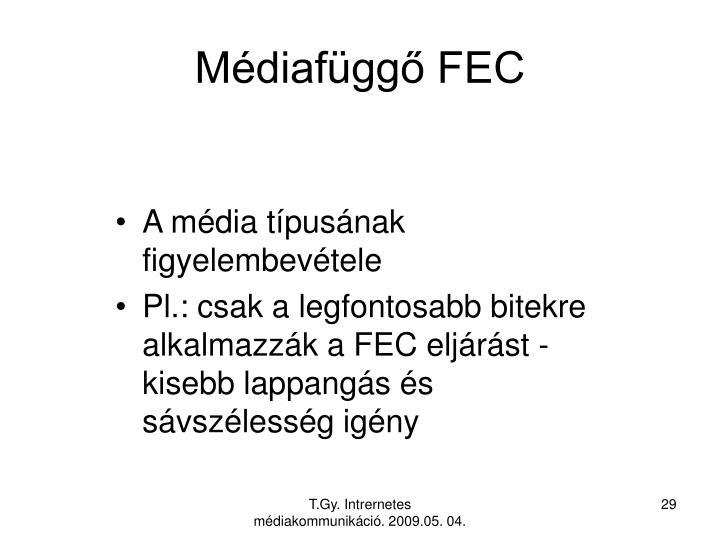 Médiafüggő FEC