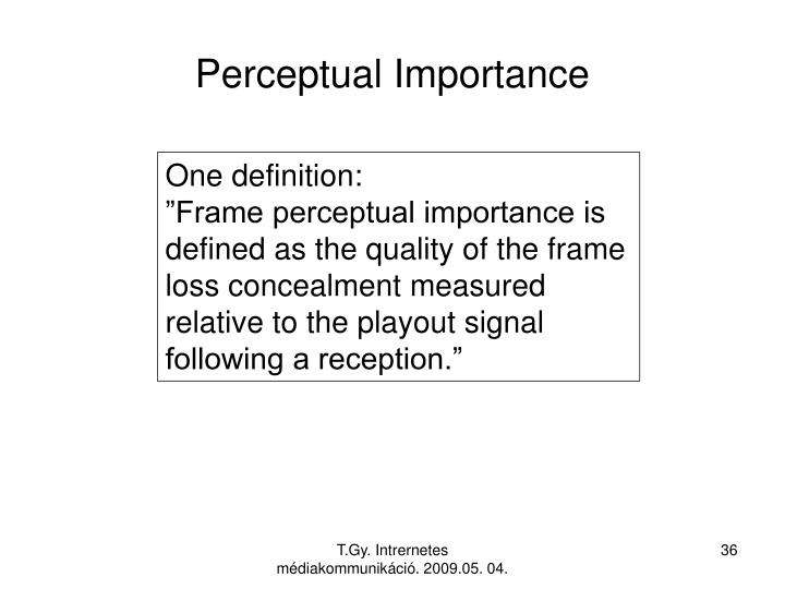 Perceptual Importance