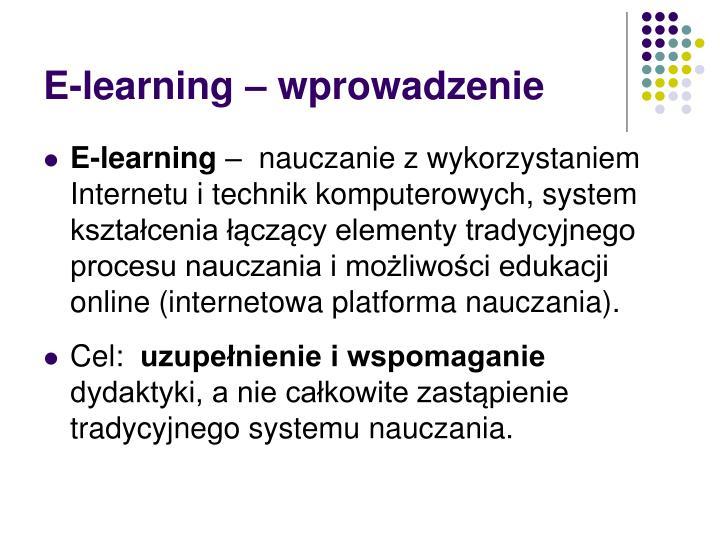 E-learning – wprowadzenie