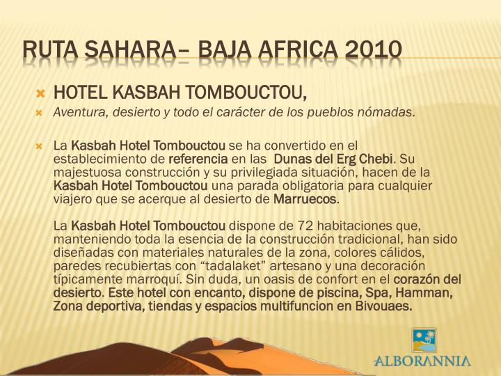 HOTEL KASBAH TOMBOUCTOU,
