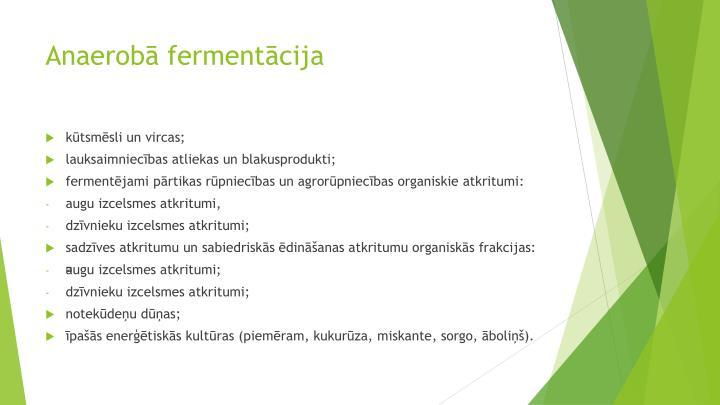 Anaerobā fermentācija