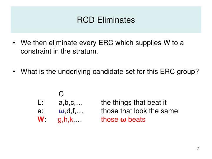 RCD Eliminates