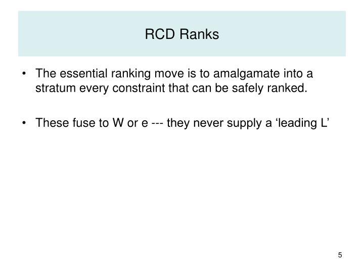 RCD Ranks