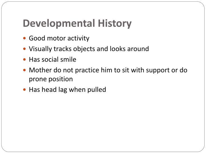Developmental History