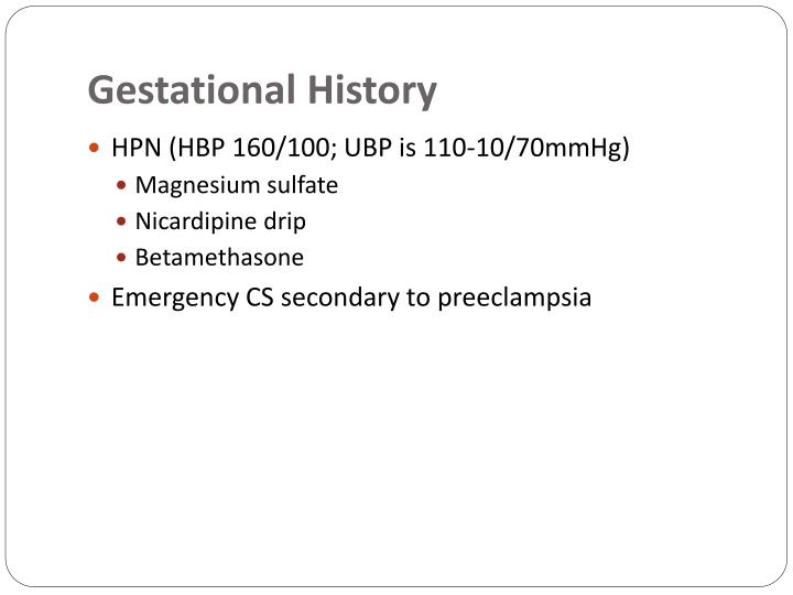 Gestational History