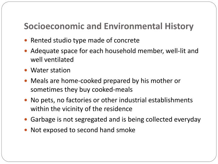 Socioeconomic and Environmental History