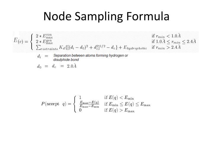 Node Sampling Formula