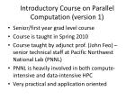 introductory course on parallel computation version 1