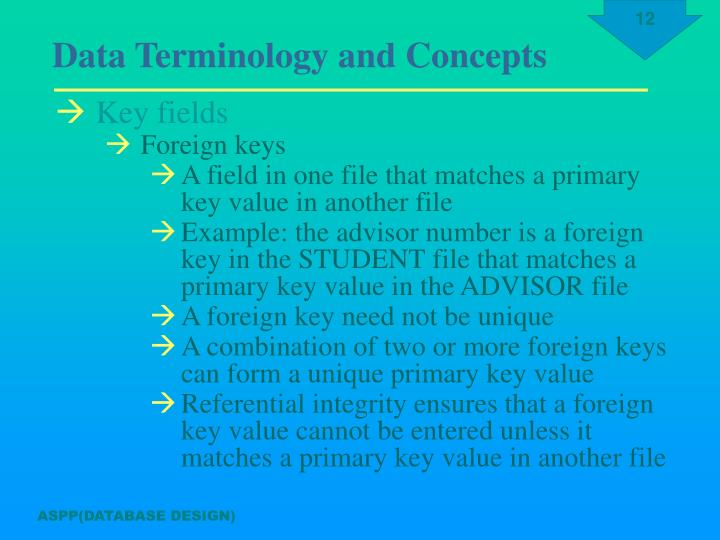 Key fields
