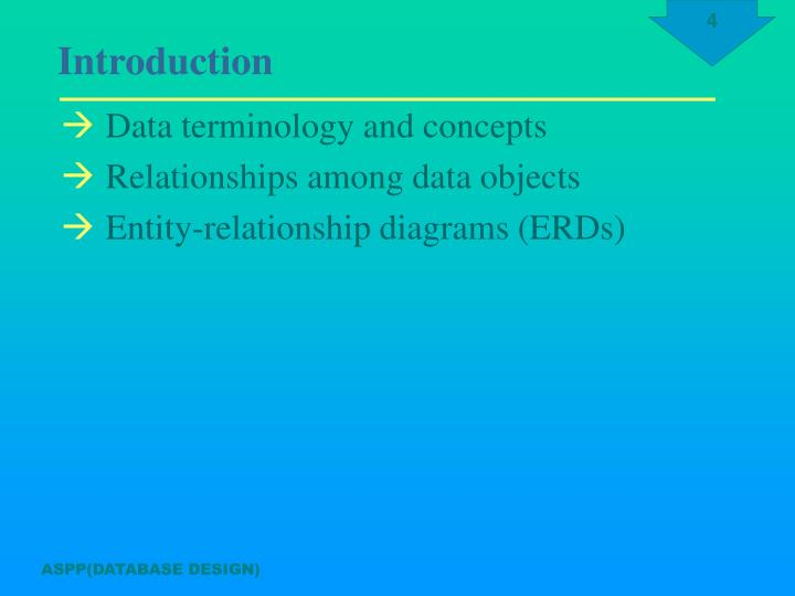 Data terminology and concepts