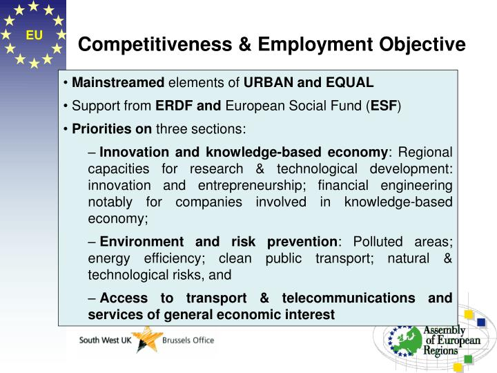 Competitiveness employment objective