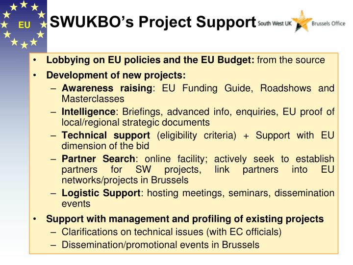 SWUKBO's Project Support