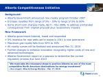 alberta competitiveness initiative