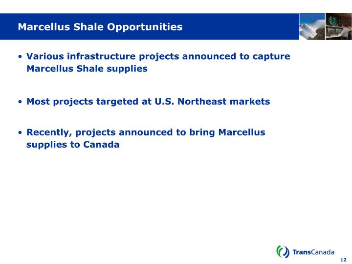 Marcellus Shale Opportunities