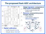 the proposed flash adc architecture