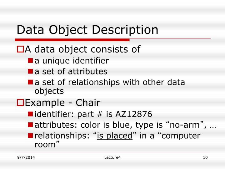 Data Object Description