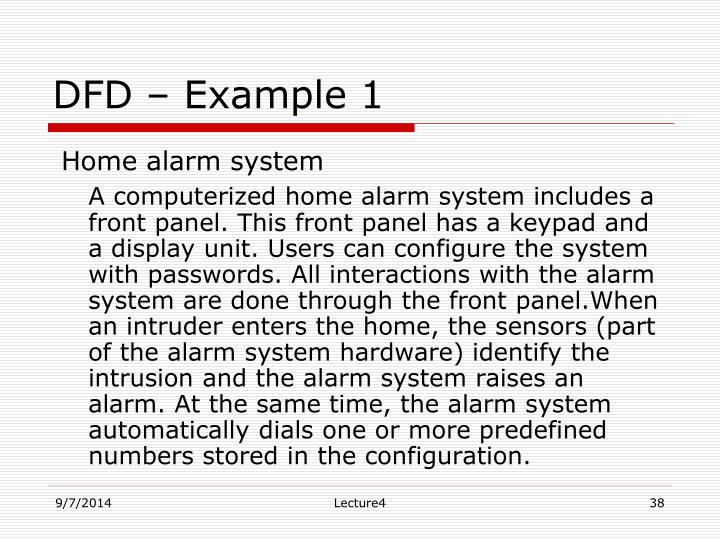 DFD – Example 1