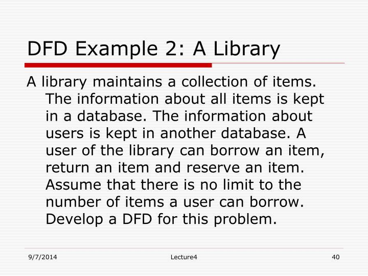 DFD Example 2: A Library
