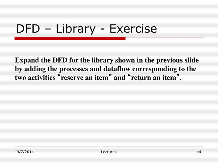 DFD – Library - Exercise