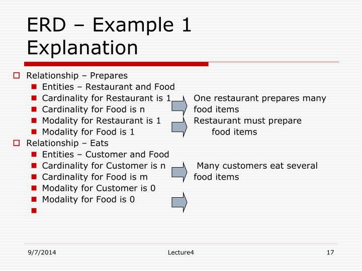 ERD – Example 1