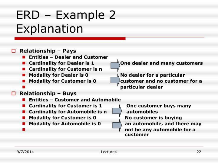 ERD – Example 2