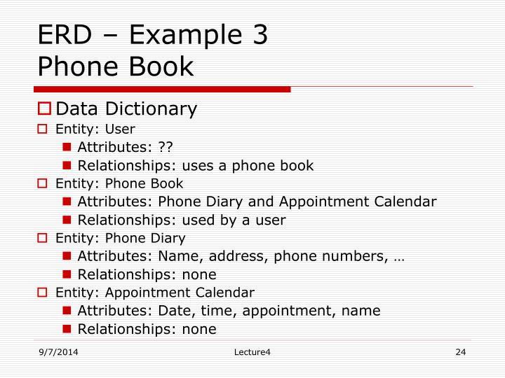 ERD – Example 3