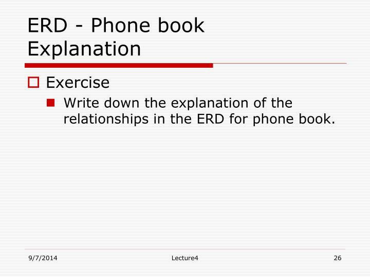 ERD - Phone book