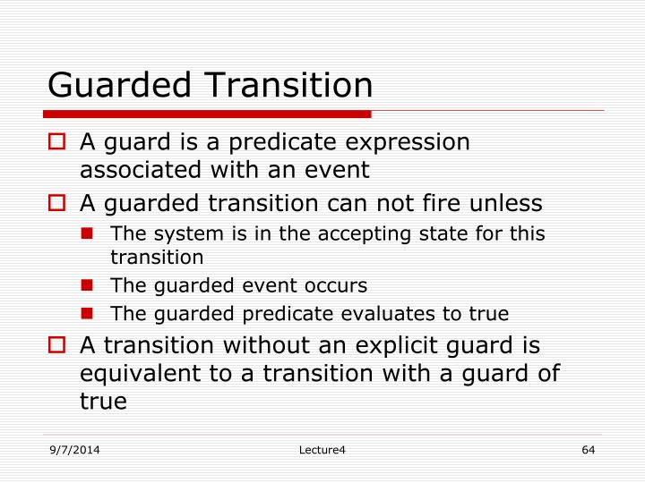 Guarded Transition