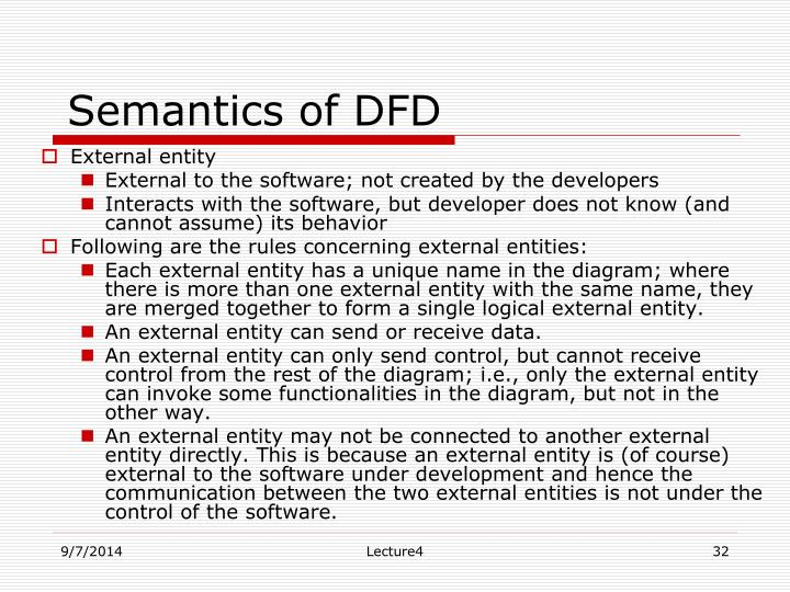 Semantics of DFD