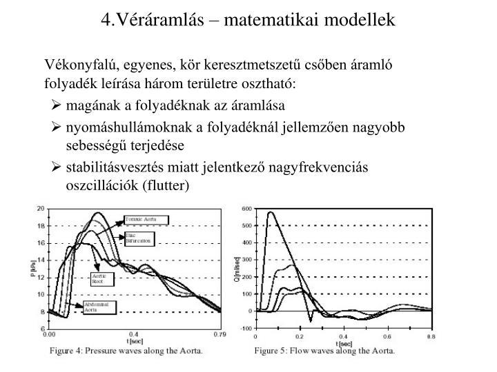 4.Véráramlás – matematikai modellek