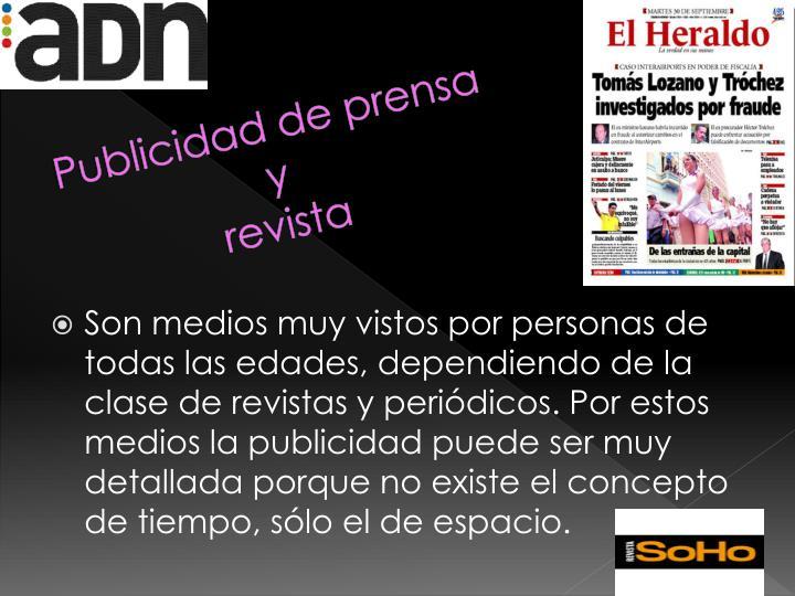 Publicidad de prensa