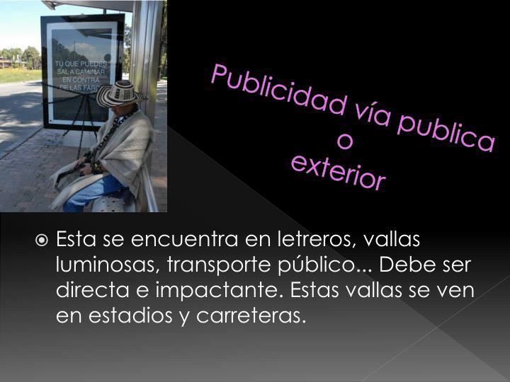 Publicidad vía publica