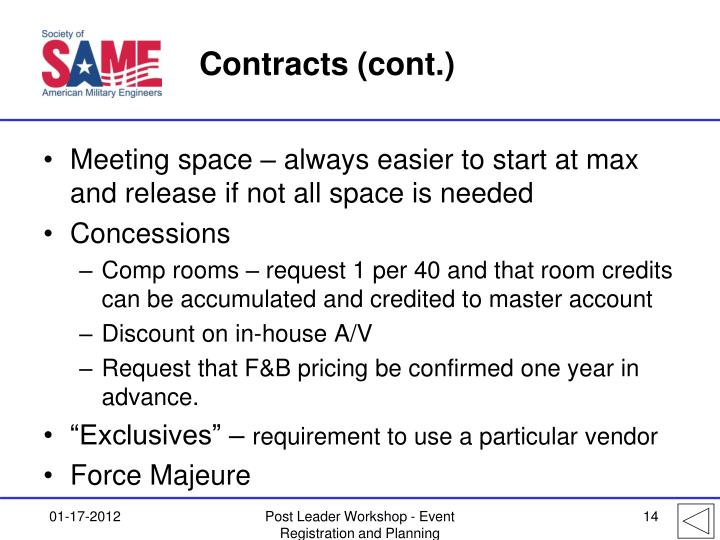 Contracts (cont.)