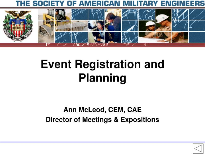 Event registration and planning