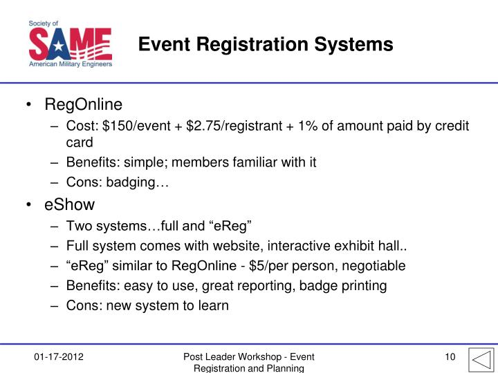 Event Registration Systems