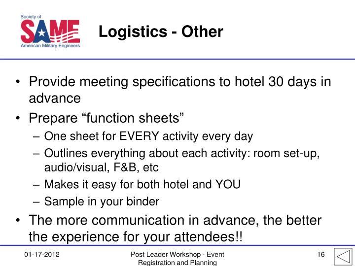 Logistics - Other