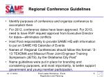 regional conference guidelines1