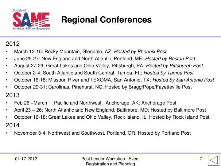 Regional Conferences