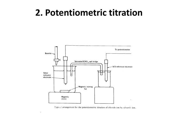2. Potentiometric titration