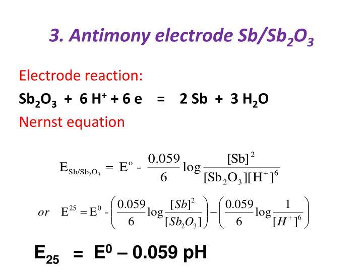 3. Antimony electrode