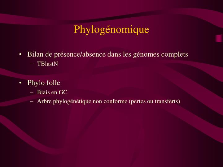 Phylogénomique