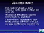 evaluation accuracy