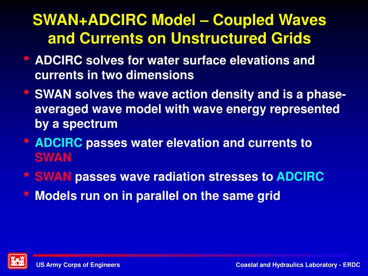 SWAN+ADCIRC Model – Coupled Waves and Currents on Unstructured Grids