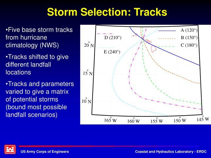 Storm Selection: Tracks