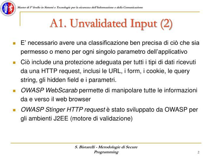 A1. Unvalidated Input (2)